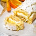 cakerol met sinaasappel curd en room