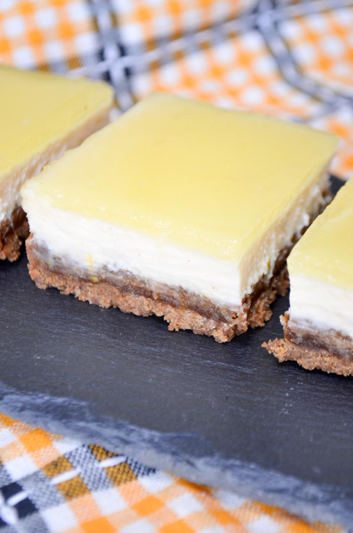 cheesecakebars met citroen en sinaasappel