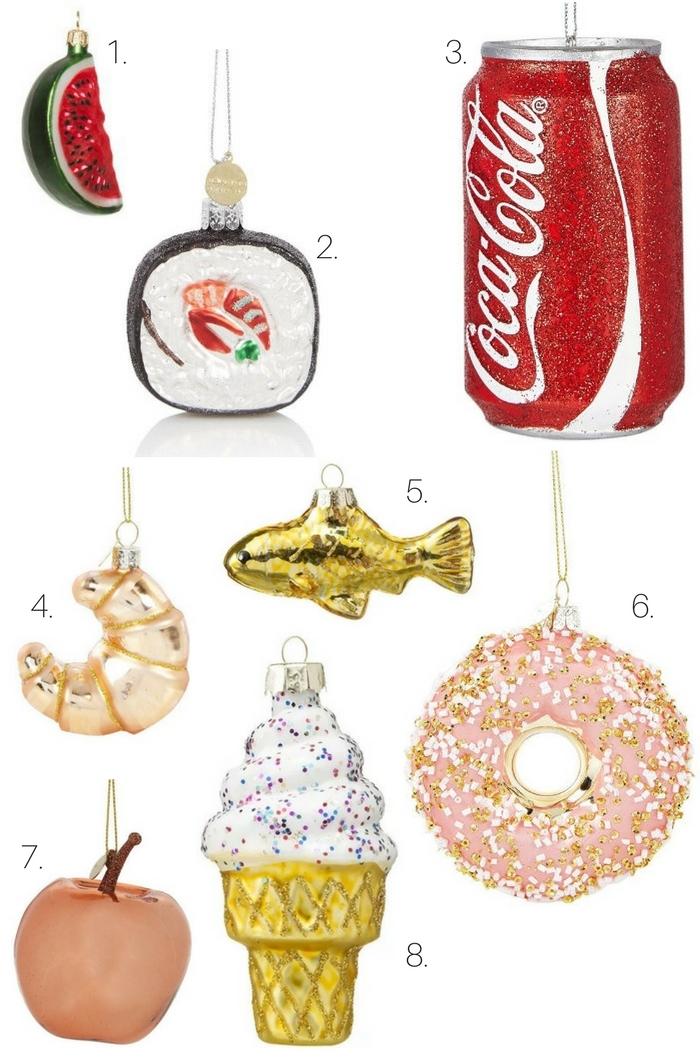 kerstballen met eten