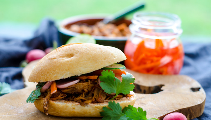 Comfort Food: Aziatisch broodje met pulled pork