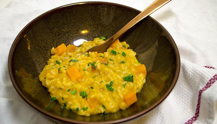 pompoen met risotto