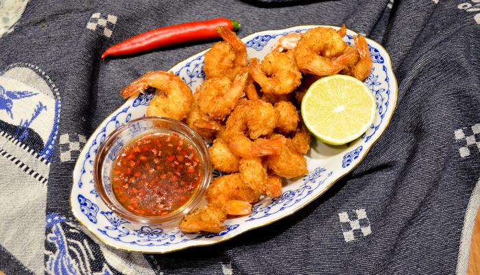 thaise garnalen met dip