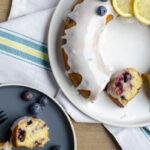 Cake met blauwe bessen en gemalen koriander